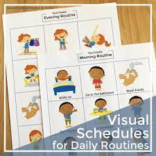 What's inside the daily routine printable. Visual Schedule For Daily Routines Picture Card Printables Speech And Language At Home