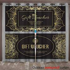 Gift Voucher Template Amazon Com Renteriadecor Outdoor Curtains For Patio Sheer