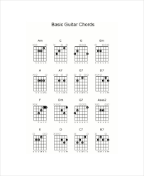Guitar Notes And Chords Chart For Beginners Basic Guitar Chord Chart Template 7 Free Pdf Documents