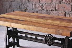 ... Hyatt Fulton Industrial Adjustable Height Coffee/Dining Table