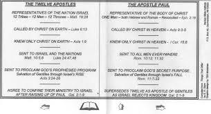The Twelve Apostles Vs The Apostle Paul Right Division Too