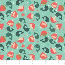 Mermaid Sea Fabric - Sea Life By Stolenpencil - Kids Ocean Beach ... & 100 % Cotton - Mermaid Fabric - Under the Sea Mermaids in Aqua - Camelot  Fabrics - Quilting Cotton - Fabric by the Yard - Quilting Fabric Adamdwight.com