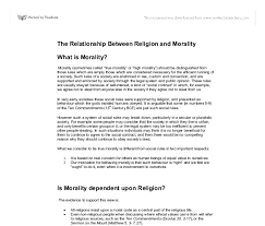 religion and morality essay on religion and morality edu essay