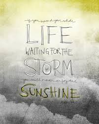 Whole Life Quotes QUOTE] If you spend your whole life waiting for the storm you'll 92