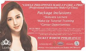 i want to share with you lioele s awesome promo for just p990 you can join the professional interactive makeup cl on may 4 2016 1 5pm