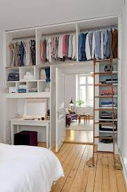 Furniture for a small bedroom Arrangement 36 The Walls Become Your Closet Homebnc 37 Best Small Bedroom Ideas And Designs For 2019