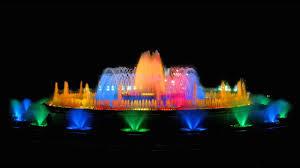 Light Show Fountain Barcelona Montjuic Magic Fountain Barcelona Time Lapse