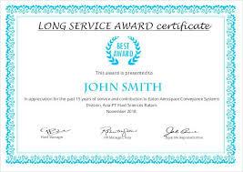 Long Service Award Certificate Template Templates Ideas Word T ...