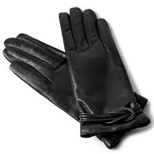 woman s cashmere lined designer leather gloves tap to expand