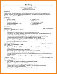 Hvac Resume Examples Hvac Resume Examples Resume For Study 33