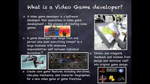 Video Game Designer Responsibilities Post Secondary School Option Video Game Developer