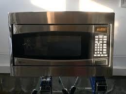 ge stainless steel countertop microwave gear cu ft capacity microwave oven ge pem31sfss profile stainless steel