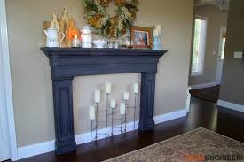 faux fireplace surround plans rogue engineer 3 building mantels diy mantel