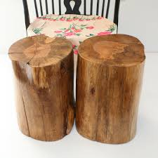 image of tree trunk coffee table small