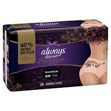 Always Discreet Boutique Incontinence Underwear For Women