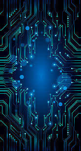 Vector Blue Technology Background Circuit Diagram Blue Geometry