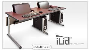 SMARTdesks iLid double computer table
