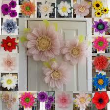 Tissue Paper Flower Centerpieces Pompom Set 3x Tissue Paper Flowers 45cm Wedding Venue Decorations Centerpiece Birthday Colours Available