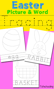 Easter Picture & Word Tracing Printables   Totschooling - Toddler ...
