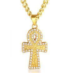 gold plated cross pendants halukakah prayer mens k real gold plated cross pendant artificial diamond