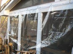 How to enclose a porch for winter Sun Room Enclosing Porch With Vinyl Screws Hooks Should Hang It Inside Or Outside Of The Porch Pinterest Diy How To Winterize Enclose Your Porch With Clear Vinyl Diy