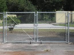 Metal Chain Fence Gate Chain Link Gates Tampa FL Metal Fence