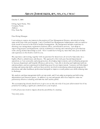 Nurse Case Manager Cover Letter Sample Cover Letter