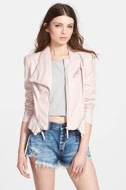 image of blanknyc denim faux leather jacket