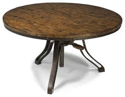 cranfill aged pine round adjule height cocktail table