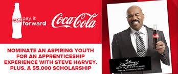 steve harvey coca cola pay it forward scholarship program  coca cola pay it forward contest and sweepstakes6