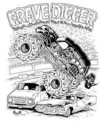 Grave Digger Coloring P On Iron Man Monster Truck Coloring Page Free