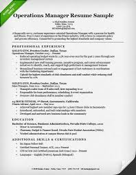 Operations Manager Resume Sample Resume Genius Throughout Manager
