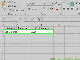 How To Make Expense Chart In Excel How To Make A Pie Chart In Excel 10 Steps With Pictures
