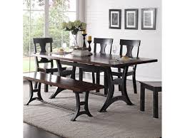 Image Reclaimed Wood Crown Mark Astor Industrial Dining Table With Trestle Base And Rustic Top Royal Furniture Crown Mark Astor Industrial Dining Table With Trestle Base And