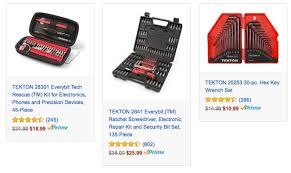 tekton tools. amazon has select tekton tools marked down to as low $10.99 the gold box deal of day. tekton