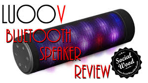 portable bluetooth speakers with lights. best new bluetooth speaker under $100 - luoov portable with lights speakers