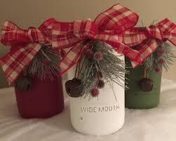 Christmas Decorated Mason Jars Rustic Mason jars Christmas mason jars Christmas Centerpieces 80