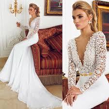 cheap 2015 long sleeve wedding dresses by berta bridal deep v neck