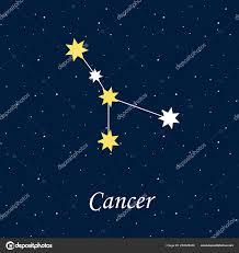 созвездие рака зодиака гороскоп астрология звезды ночью иллюстрации
