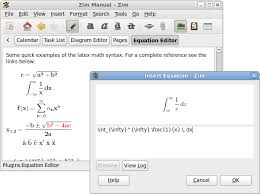 zoho notes alternatives showing the latex equation editor