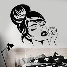 <b>Vinyl Wall Decal Beautiful</b> Girl Face Wall Sticker Home Bedroom ...