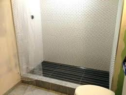 shower curtain or glass door shower curtain or glass door my question is given the narrow