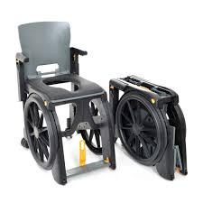 wheelable portable folding shower chair