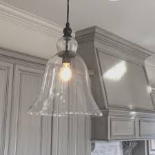 kitchen large glass bell hanging pendant light favorite