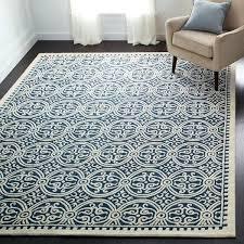 handmade navy blue wool rug safavieh moroccan cambridge 8x10