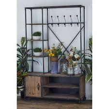 Rustic Coat Rack With Shelf Rustic Coat Rack Entryway Furniture Furniture The Home Depot 84