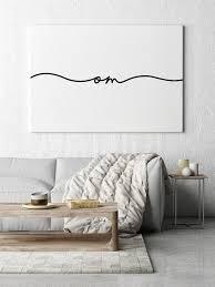 om wall art meditation room relax