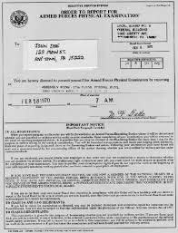 official military letters and documents from the vietnam war era physical notice