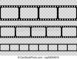 Creative Vector Illustration Of Old Retro Film Strip Frame Set Isolated On Transparent Background Art Design Reel Cinema Filmstrip Template Abstract