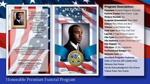 Free Funeral Program Templates Download Honorable Funeral Program Obituary Military YouTube 16